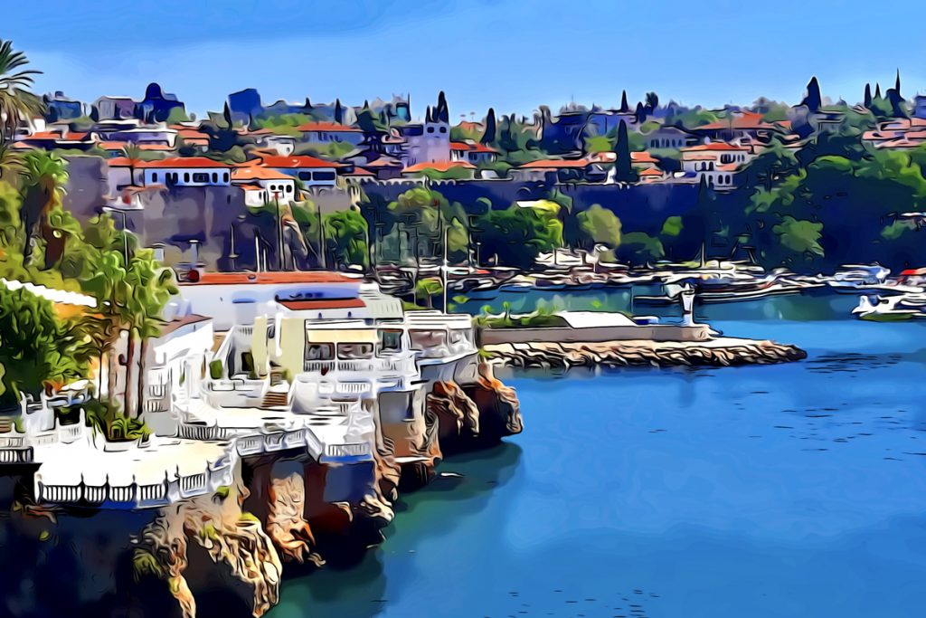 Antalya, entrance to the old town harbour